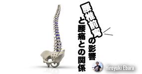 【知見】腰椎前弯の影響と腰痛との関係